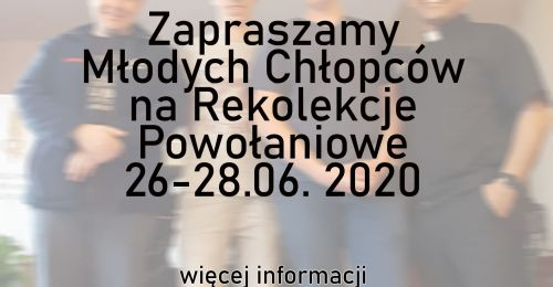 Rekolekcje Powołaniowe 2020